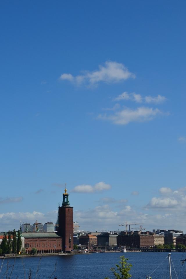 ... över Riddarfjärden och Stadshuset ...