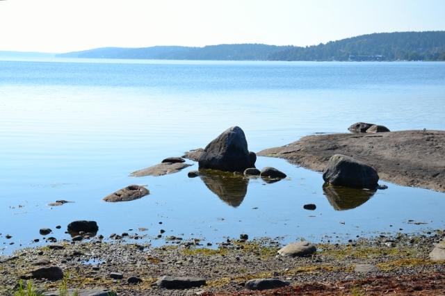 Japanerna är ju kända för att fixa till estetiskt tilltalande miljöer med hjälp av några stenar och vatten. Men naturen kan faktiskt ordna till det också! Som här vid Erstaviken sydöst om Stockholm.