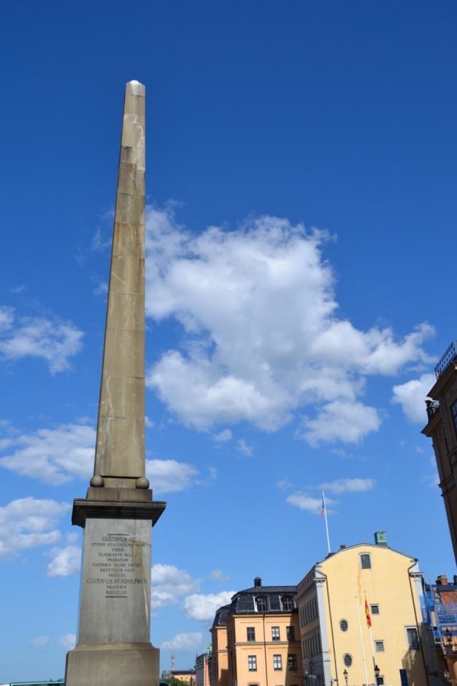 ... och banne mig, var det inte moln över obelisken på Slottsbacken också!