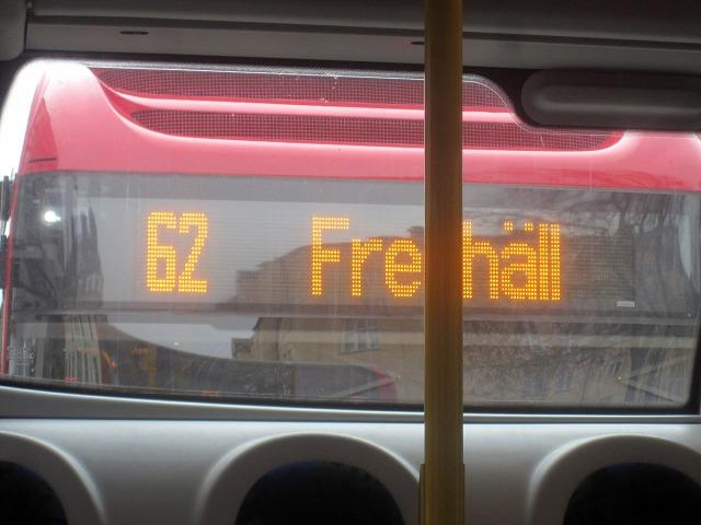 Den är nämligen tagen från buss 40 i riktning mot 62:an, och de kommer inte att mötas i fortsättningen. Någon av dem försvinner väl helt.
