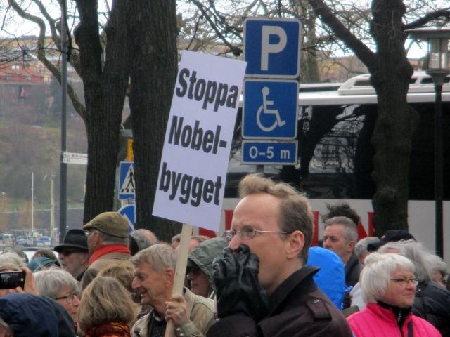 demonstration stadshuset nobel