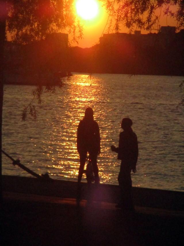 solnedgång söder mälarstrand